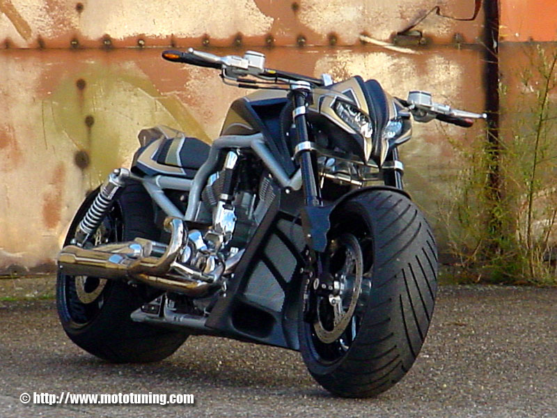 Harley davidson v rod by tecno bike