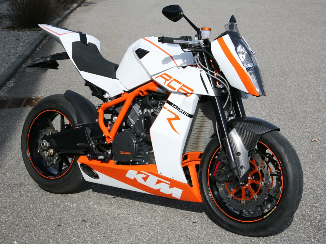 street bike ktm rc8 street bike by lazarethmotorcycletuned